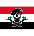 russian special forces and syrian flag vector image vector image