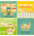 Supermarket Posters Set vector image