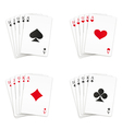 royal straight flush set vector image vector image