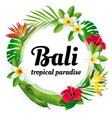 tropical paradise bali vector image