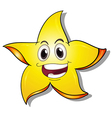 A smiling star vector image vector image