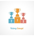 Pedestal With Trophy Cups Business concept vector image