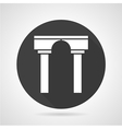 Arch with pillars black round icon vector image