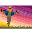 scarecrow background 2 vector image