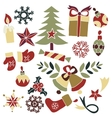 Christmas goods doodle vector image