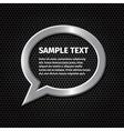 Ellipse silver speech bubbles for message on dark vector image