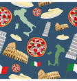 Italian seamless pattern Background of the symbols vector image
