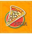 pizza icon vector image