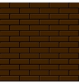 Seamless Brown Brick Wall Background vector image