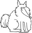eskimo dog cartoon for coloring vector image vector image