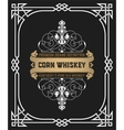 Whiskey label with old frame vector image