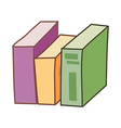 The books vector image