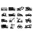 construction transport icons vector image