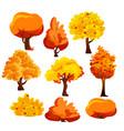 bright colorful autumn vector image