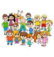 children characters group cartoon vector image