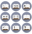 set of icons with a book vector image