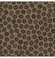 Seamless wallpaper pattern with coffee beans vector image