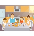 Family Breakfast Flat vector image