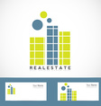 Simple real estate logo vector image