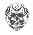 skull wearing motocross helmet vector image