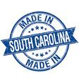 made in South Carolina blue round vintage stamp vector image