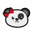 bear panda kawaii cartoon vector image