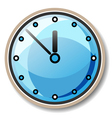 blue clock vector image