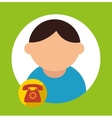 character call service delivery icon vector image