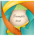 Colorful brochure layout vector image
