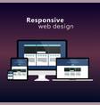 flat responsive web design concept vector image