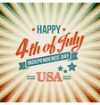 Independence Day typography card vector image