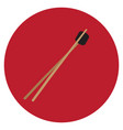 isolated wooden chopsticks vector image