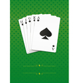 royal straight flush vector image