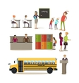 set of school characters design elements vector image