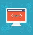 software testing concept in flat style vector image