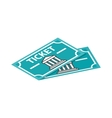 Two museum tickets icon isometric 3d style vector image