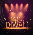 diwali background with spotlights 2109 vector image