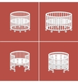 Round Baby Crib vector image