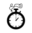 silhouette black of stopwatch graphic vector image