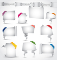 Origami style banners vector image vector image