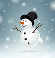 Smiley snowman vector image