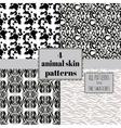 4 animal skin patterns set vector image