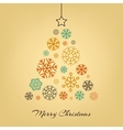 Christmas tree made from snowflakes on vector image vector image