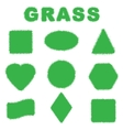 Green grass banners vector image vector image