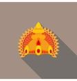 Hindu deities crown flat vector image vector image