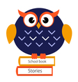 Beautiful Cute school Owl vector image vector image