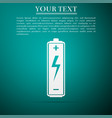 battery icon isolated on blue background vector image