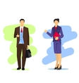 Business woman and man vector image