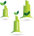 Green city resize vector image
