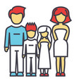 happy family parents with kids father mother vector image